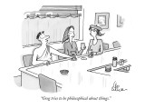 """Greg tries to be philosophical about things."" - New Yorker Cartoon Premium Giclee Print by Leo Cullum"