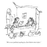 """We've never published anything by a Pearl Harbor denier before."" - New Yorker Cartoon Premium Giclee Print by Sidney Harris"