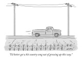 """""""I'd better get a hit country song out of growing up this way."""" - New Yorker Cartoon Premium Giclee Print by Kim Warp"""