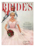 Brides Cover - April, 1954 Premium Giclee Print by William Helburn