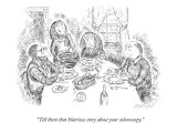 """Tell them that hilarious story about your colonoscopy."" - New Yorker Cartoon Premium Giclee Print by Edward Koren"