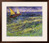 Seascape at Saintes-Maries, c.1888 Framed Giclee Print by Vincent van Gogh