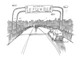 Entering September - New Yorker Cartoon Premium Giclee Print by Michael Crawford