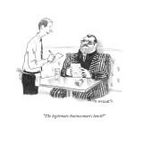 """The legitimate-businessman's lunch?"" - New Yorker Cartoon Premium Giclee Print by Pat Byrnes"