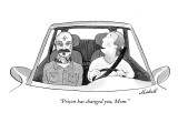 """Prison has changed you, Mom."" - New Yorker Cartoon Premium Giclee Print by Marshall Hopkins"