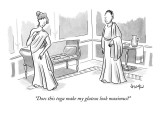 """Does this toga make my gluteus look maximus?"" - New Yorker Cartoon Premium Giclee Print by Robert Leighton"
