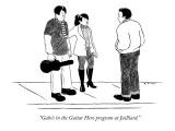 """Gabe's in the Guitar Hero program at Juilliard."" - New Yorker Cartoon Premium Giclee Print by Emily Flake"