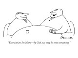 """Darwinian Socialism—by God, we may be onto something."" - New Yorker Cartoon Premium Giclee Print by Charles Barsotti"