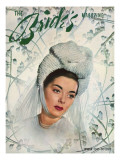 Brides Cover - April, 1947 Premium Giclee Print by Walter Strate
