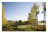 Osprey Meadows Golf Course, Holes 16 and 17 Regular Photographic Print by Stephen Szurlej