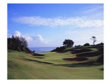 Princeville Golf Club The Prince Course, Hole 7 Premium Photographic Print by Stephen Szurlej
