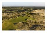 Bandon Trails Golf Course, Hole 1 Regular Photographic Print by J.D. Cuban