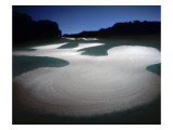 Bethpage State Park Black Course, Hole 17, nighttime Regular Photographic Print by Dom Furore