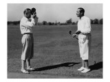George Con Elm and Walter Hagen Premium Photographic Print by Unknown Unknown