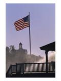 U.S. flag at Pinehurst Regular Photographic Print by Dom Furore