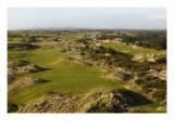 Bandon Trails Golf Course, aerial Regular Photographic Print by J.D. Cuban