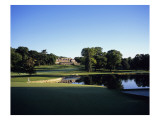 Baltusrol Golf Club, Hole 4, the pond at the clubhouse Premium Photographic Print by Stephen Szurlej