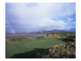 Waterville Golf Club rainbow Premium Photographic Print by Stephen Szurlej