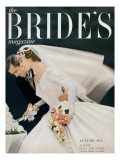 Brides Cover - August, 1955 Regular Giclee Print by William Helburn