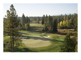 Osprey Meadows Golf Course, Hole 18 Premium Photographic Print by Stephen Szurlej