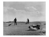 Old Course St. Andrews Greenskeepers Regular Photographic Print by Unknown Unknown