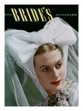 Brides Cover - February, 1940 Premium Giclee Print by Matter-Bourges