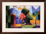 Garden On The Lake of Thun Framed Giclee Print by Auguste Macke