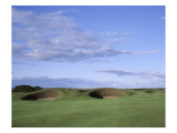 Carnoustie Golf Links, side-by-side bunkers Premium Photographic Print by Stephen Szurlej