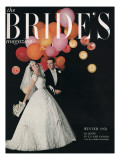 Brides Cover - October, 1958 Premium Giclee Print by William Helburn