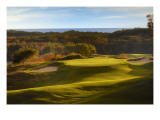 Crystal Downs Country Club, deep bunkers Premium Photographic Print by Dom Furore