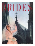 Brides Cover - August, 1949 Premium Giclee Print by Maria Martel