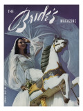 Brides Cover - February, 1942 Premium Giclee Print by Herbert Matter