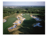 Bethpage State Park Black Course, Holes 10 and 11 Regular Photographic Print by Stephen Szurlej