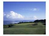 Princeville Golf Club The Prince Course, Hole 7 coastline Premium Photographic Print by Stephen Szurlej
