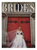 Brides Cover - August, 1951 Premium Giclee Print by Karen Radkai