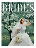 Brides Cover - February, 1952 Premium Giclee Print by Maria Martel