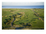 Carnoustie Golf Links, holes along the coastline Premium Photographic Print by Stephen Szurlej