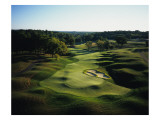 Valhalla Golf Club, Hole 18, aerial Regular Photographic Print by Stephen Szurlej