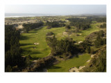 Bandon Trails Golf Course, aerial Regular Photographic Print by J.D. Cuban