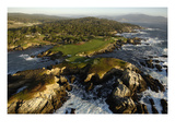 Cypress Point Golf Course, aerial coastline Premium Photographic Print by J.D. Cuban
