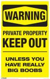 Warning - Boobs Masterprint