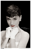 Audrey Hepburn - Red Lips Masterprint