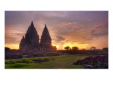 Prambanan Sunset Premium Photographic Print by Trey Ratcliff