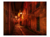 Walking the Streets of France After Dark Premium Photographic Print by Trey Ratcliff