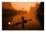 The Li River (or Morning Fisherman) Premium Photographic Print by Trey Ratcliff