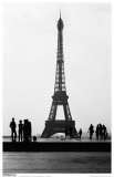 Eiffel Tower BW Signed Masterprint