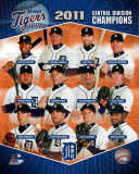 Detroit Tigers 2011 AL Central Champions Composite Photographie