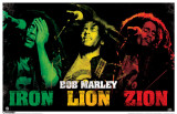 Bob Marley - Iron, Lion, Zion Masterprint