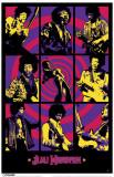 Jimi Hendrix - Purple Haze Montage Masterprint
