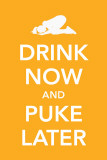 Drink Now and Puke Later Masterprint